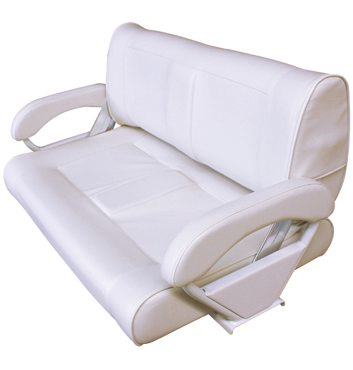 double flip back sitzbank wei propellerdiscount. Black Bedroom Furniture Sets. Home Design Ideas