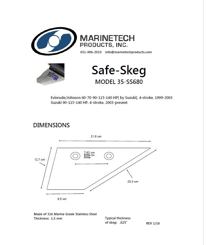 Safe-Skeg 605