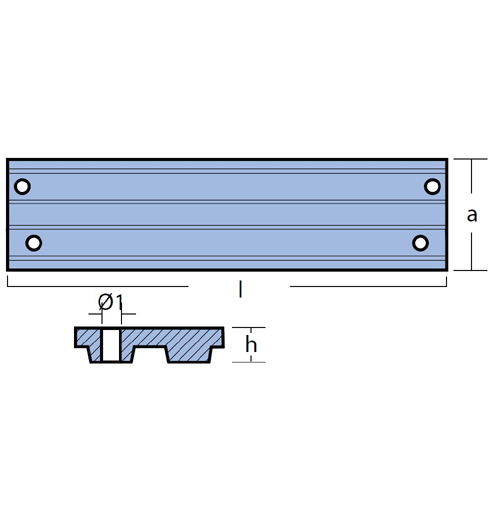 Tecnoseal Stabanode für diverse Mercury/Mariner 30 - 125 PS, Magnesium