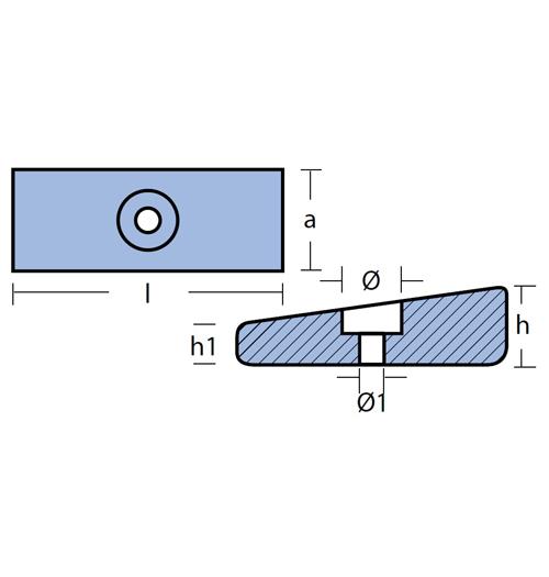 Tecnoseal Blockanode für diverse Mercury 35 - 300 PS, Magnesium