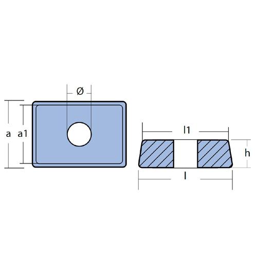 Tecnoseal Blockanode für diverse Mercury/Mariner 4 - 20 PS, Tohatsu M/MFS 4 - 6, Magnesium