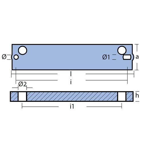 Tecnoseal Stabanode für diverse Mercury 50 - 100 PS, Evinrude/Johnson 60 - 225 PS, Tohatsu M40 - 140, Magnesium