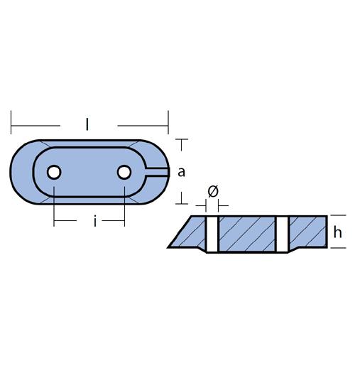 Tecnoseal Blockanode für diverse Yamaha 25 - 40 PS, F8 - F9,9, Magnesium