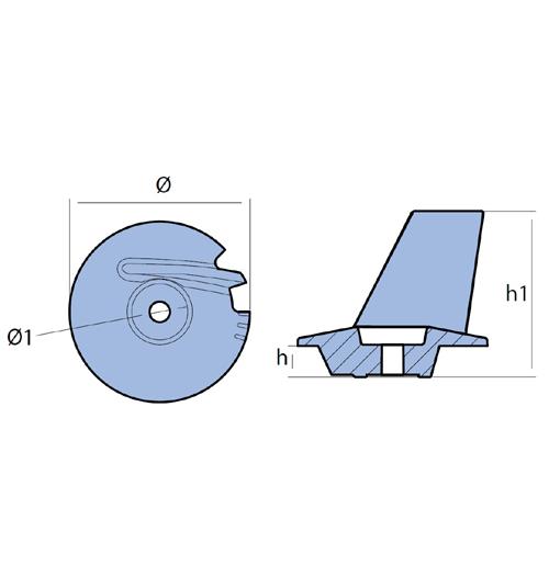 Tecnoseal Finnenanode für Tohatsu, MFS 8 - MFS 20, Magnesium
