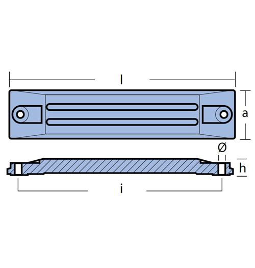 Tecnoseal Balkenanode für diverse Honda, BF75 - BF250A, Magnesium