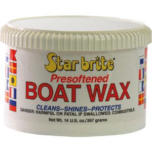 Vorgeweichtes Bootswachs