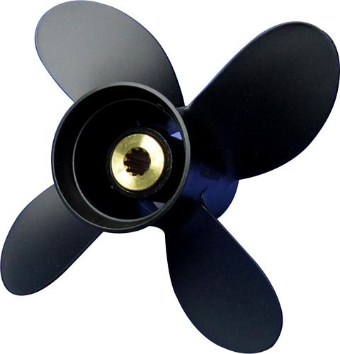 SOLAS 4-Blatt-Aluminiumpropeller 9-1/4 x 10R