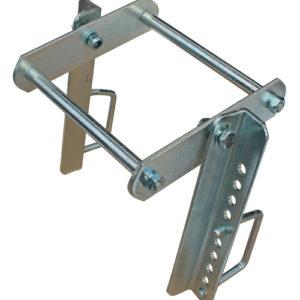 Doppel-Kielrollenhalter für 40 x 40 mm Vierkantrohr