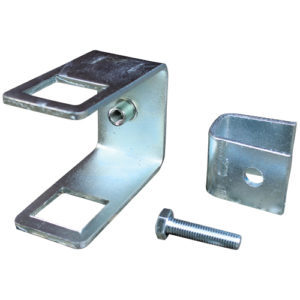 Halter für Seitenrolle an 70 x 40 mm (H x B) Vierkantrohr