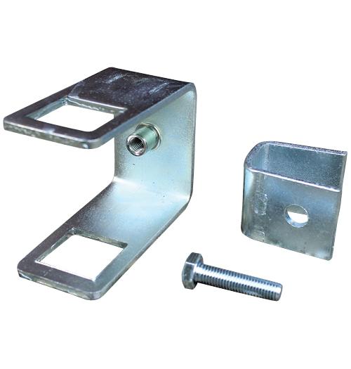 Halter für Seitenrolle an 60 x 40 mm (H x B) Vierkantrohr