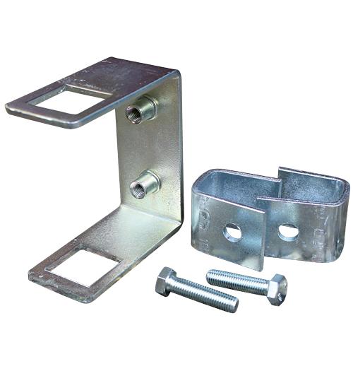 Halter für Seitenrolle an 100-120 x 40 mm (H x B) Vierkantrohr
