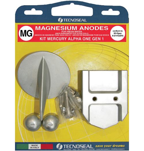 Tecnoseal Anodensatz Magnesium für MerCruiser Alpha One 1. Generation