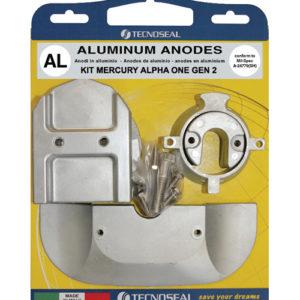 Tecnoseal Anodensatz Aluminium für MerCruiser Alpha One 2. Generation