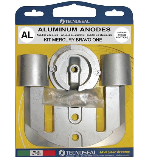 Tecnoseal Anodensatz Aluminium für MerCruiser Bravo One