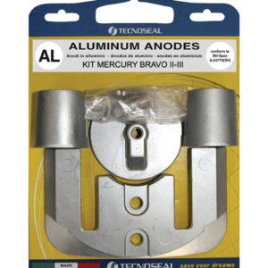 Tecnoseal Anodensatz Aluminium für MerCruiser Bravo 2 und Bravo 3