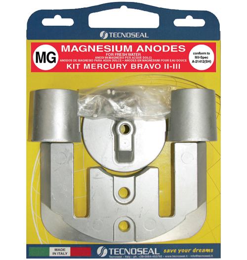 Tecnoseal Anodensatz Magnesium für MerCruiser Bravo 2 und Bravo 3
