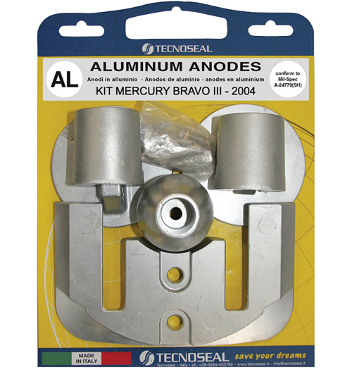 Tecnoseal Anodensatz Aluminium für MerCruiser Bravo Three (ab 2004)