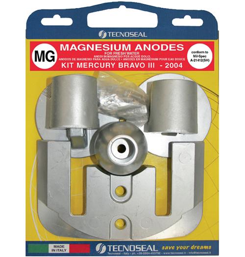 Tecnoseal Anodensatz Magnesium für MerCruiser Bravo Three (ab 2004)