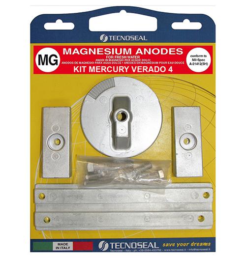 Tecnoseal Anodensatz Magnesium für Mercury Verado 135-200 PS, 4 Zylinder