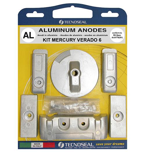Tecnoseal Anodensatz Aluminium für Mercury Verado 200-350 PS, 6 Zylinder