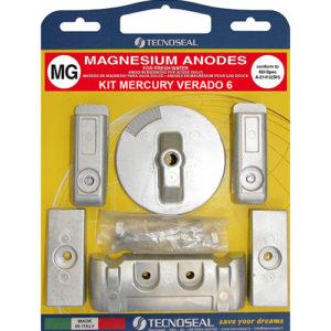 Tecnoseal Anodensatz Magnesium für Mercury Verado 200-350 PS, 6 Zylinder
