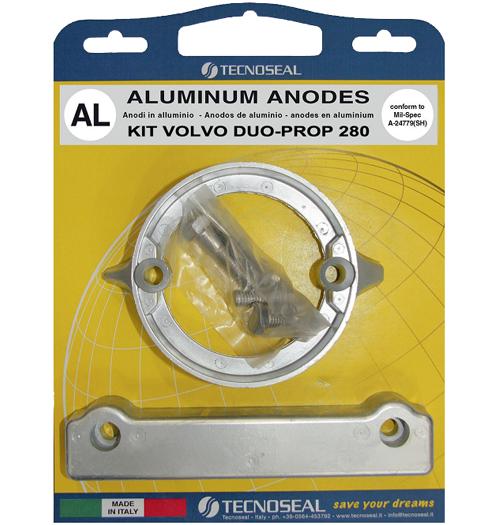 Tecnoseal Anodensatz Aluminium für Volvo Penta AQ280-DP (Duoprop)