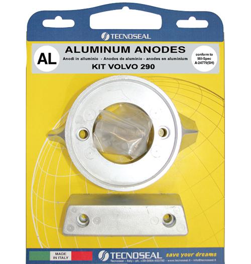 Tecnoseal Anodensatz Aluminium für Volvo Penta AQ290