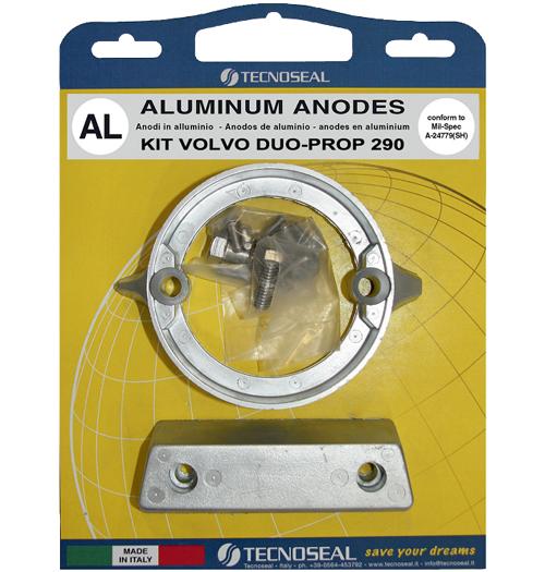 Tecnoseal Anodensatz Aluminium für Volvo Penta AQ290-DP (Duoprop)