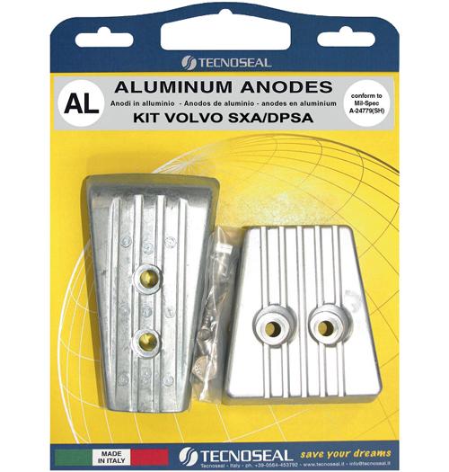 Tecnoseal Anodensatz Aluminium für Volvo Penta SX-A und Volvo DPS
