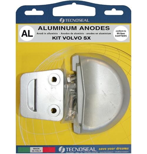 Tecnoseal Anodensatz Aluminium für Volvo Penta SX