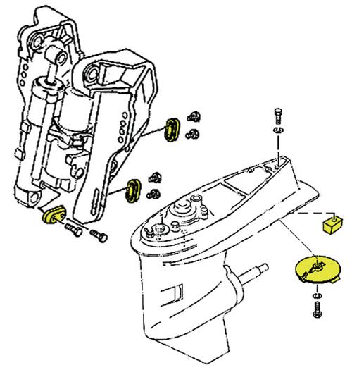 Tecnoseal Anodensatz Aluminium für Yamaha 40-60